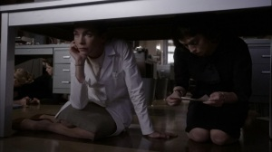 Fallout- Dr. DePaul and Virginia end up under same table