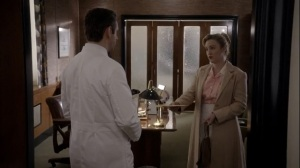 Fallout- Flora Banks tells Dr. Masters that she is three months pregnant