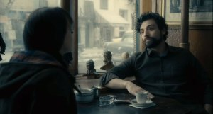 Inside Llewyn Davis- Jean and Llewyn in cafe