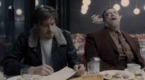 Inside Llewyn Davis- Johnny Five and Roland Turner in cafe