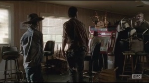 After- Carl and Rick find a walker in an abandoned restaurant
