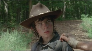 After- Carl's silent F You to Rick