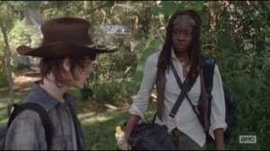 Claimed- Michonne and Carl travel for supplies