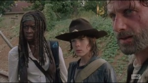 Claimed- Michonne, Carl and Rick find rail car