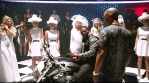 Middlegame- Dre rides in on a motorcycle for Lukas