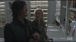 Alone- Beth and Daryl with stash