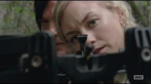 Alone- Daryl teaching Beth how to shoot