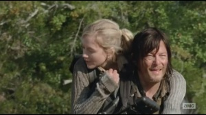 Alone- Daryl's serious piggyback