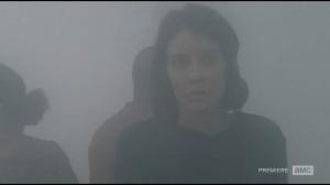 Alone- Maggie, Bob and Sasha in fog