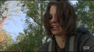 Alone- Maggie dips her hand into walkers' blood