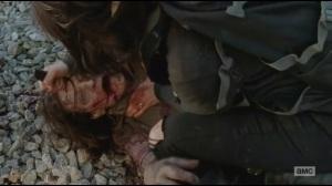 Alone- Maggie kills walker