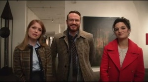 Brinkmanship- Caitlin, Doug and Sarah at art gallery