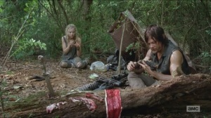 Still- Beth and Daryl eating