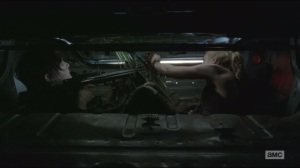Still- Beth and Daryl hiding in car