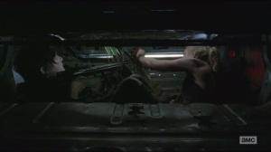 Still- Beth and Daryl hiding in car