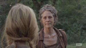 The Grove- Carol keeps it in after seeing that Lizzie has killed Mika