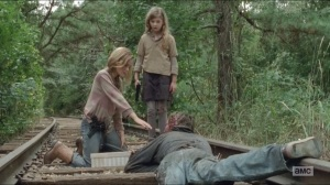 The Grove- Lizzie almost allows herself to be bitten by walker