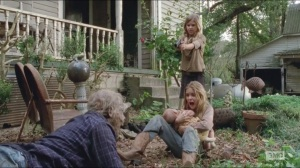 The Grove- Mika, Lizzie and Judith ambushed by walker