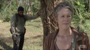 The Grove- Tyreese tells Carol about seeing Karen in his dreams