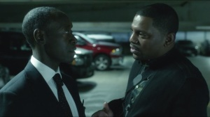 Together- Dre and Marty talk in parking lot about whether Dre had Lukas killed