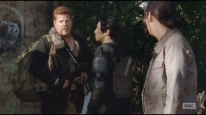 Us- Abraham and Glenn negotiate and decide to keep walking