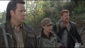 Us- Eugene, Rosita and Abraham watch Glenn run off