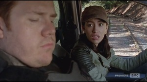 Us- Eugene tells Rosita to stop the truck