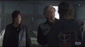 Us- Joe asks Len if he planted his cottontail half in Daryl's bag
