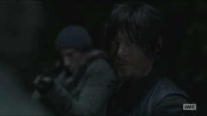 A- Daryl tries to have Joe spare Rick, Carl and Michonne