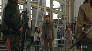 A- Gareth welcomes the four to Terminus