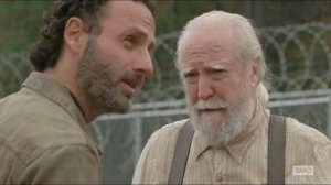 A- Hershel and Rick talk about the war being over