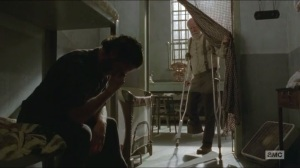 A- Hershel wakes up Rick