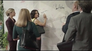 Clovis- Selina about to sign the Clovis wall under Ron Jeremy's name