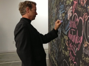 Rand Paul signs Facebook wall