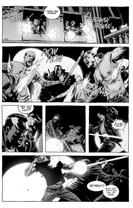 The Walking Dead #124- Michonne turns on the lights