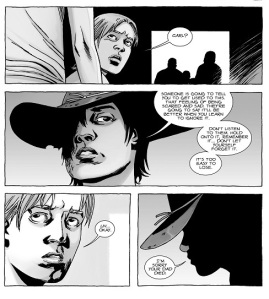 The Walking Dead #125- Carl talks to Mikey
