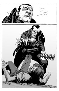 The Walking Dead #126- Negan breaks Rick's leg