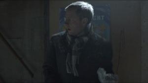 Buridan's Ass- Lester retries gun from behind poster