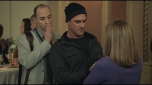 Detroit- Ray, Selina's personal trainer, played by Christopher Meloni, sees tension in Amy