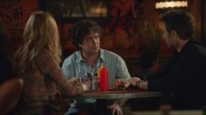 Dicks- Julia, Levon and Hank at bar, Levon gets text from Melanie
