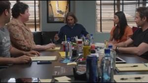 Like Father, Like Son- Rath tells Hugh that he'll be writing episode three of Santa Monica Cop