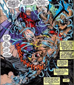 Magneto has metal rip through Logan