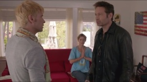 Smile- Hank walks in on Chris working on Karen's back