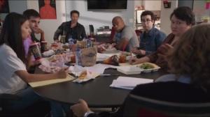 Smile- Staff meeting on Hank's script