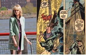 The Amazing Spider-Man 2- Emma Stone wearing same outfit that Gwen died in
