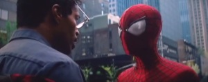 The Amazing Spider-Man 2- Spidey saves Max Dillon, played by Jamie Foxx