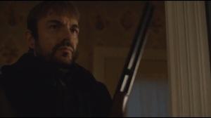 The Six Ungraspables- Lorne Malvo picks up Lester's shotgun before he kills Officer Vern Thurman