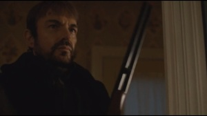 The Six Ungraspables- Lorne Malvo picks up Lester's shotgun before he kills Officer Vern Thurman