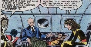 X-Men Days of Future Past- Comic Kitty Pryde talks with Storm and Professor Xavier
