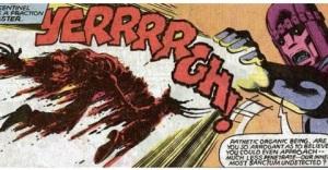X-Men Days of Future Past- Sentinel blasts Wolverine